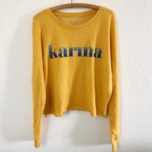 Zoe + Live Karma Cropped Sweatshirt Juniors XL